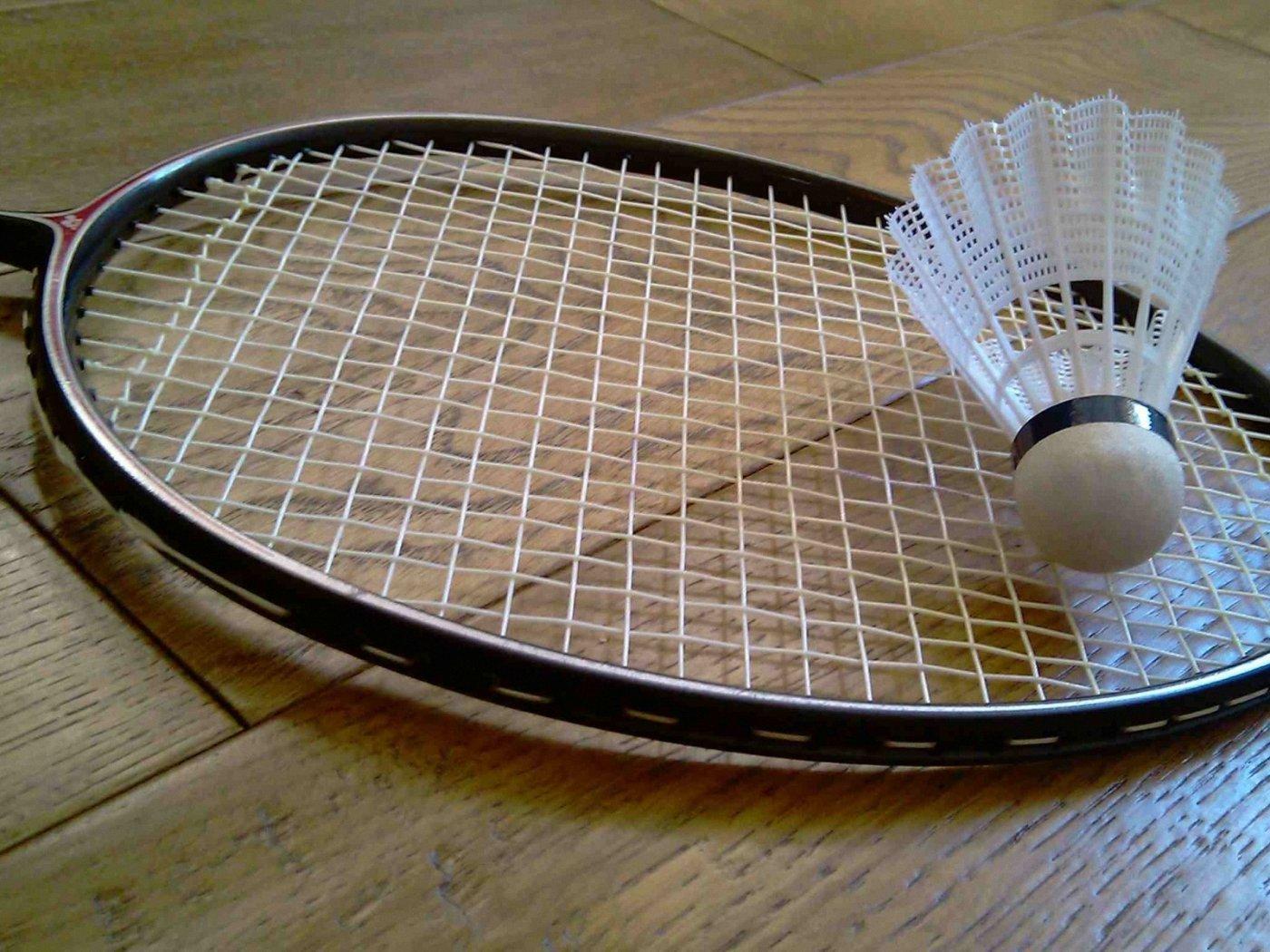 Richtige Badminton-Saite
